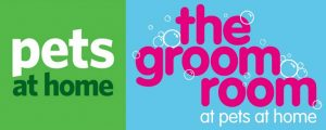 Pets at Home and The Groom Room Logos