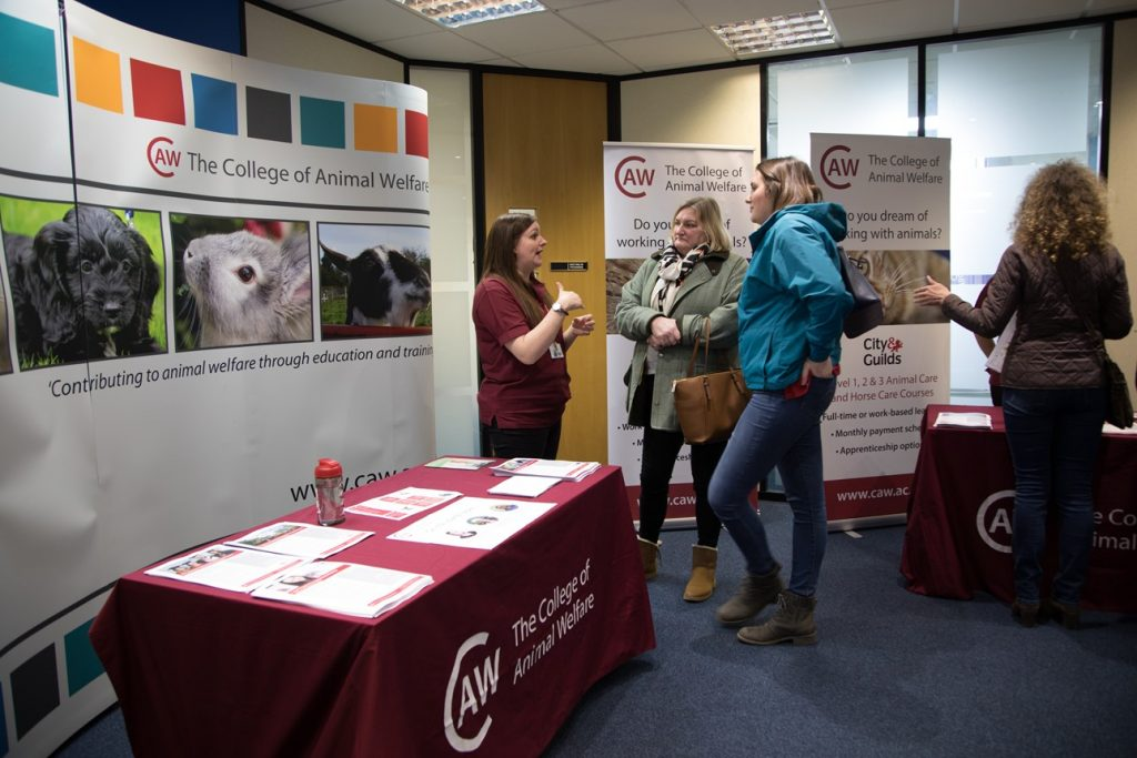 Exhibitors and visitors at our Huntingdon event